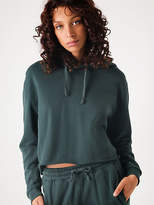 Nude Lucy New Walker Cropped Hoodie In Forest Green Womens Hoodies