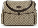 Gucci Infant Double G Logo Diaper Bag - Brown
