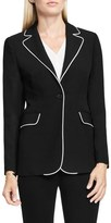 Vince Camuto Contrast Piping Blazer