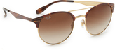 Ray-Ban Etched Retro Round Aviator Sunglasses