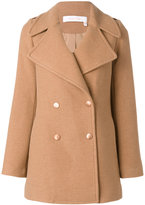 See by Chloe double breasted coat - women - Cotton/Acrylic/Polyester/other fibers - 36
