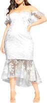 City Chic Dress Aflutter Midi Dress