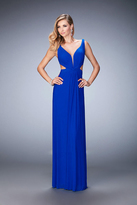 La Femme 21889 Elegant V-neck Sheath Dress