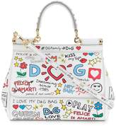 Dolce & Gabbana small Sicily mural print shoulder bag