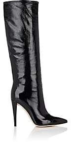 Gianvito Rossi Women's Glossed Leather Knee Boots - Black
