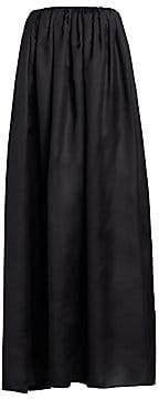 The Row Women's Elliot Strapless Silk Midi Shift Dress