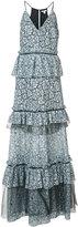 Zac Posen Brianna floral crochet gown