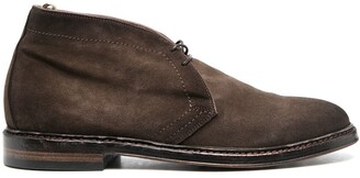 Officine Creative calf leather lace-up Desert boots
