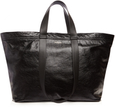 Balenciaga Carry medium creased-leather tote