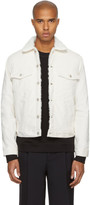 Naked and Famous Denim Off-white Stretch Corduroy Jacket