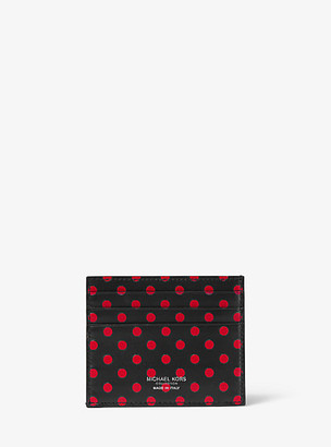 Michael Kors Small Dot Leather Card Case