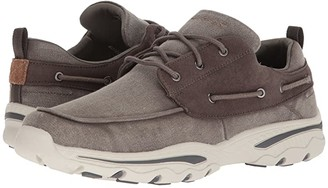 Skechers Relaxed Fit: Creston - Vosen (Taupe) Men's Lace up casual Shoes