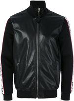 Givenchy logo stripe bomber jacket - men - Lamb Skin/Polyester/Spandex/Elastane/Viscose - 46