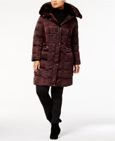 Vince Camuto Plus Size Faux-Fur-Trim Zip-Pocket Puffer Coat