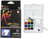 Sakura XNCW-12H-Piece Koi Water Colors Field Sketch Set with Brush