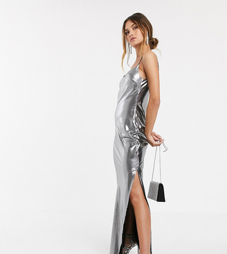 Asos DESIGN metallic cami maxi dress