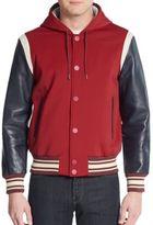 Marc by Marc Jacobs Mixed-Media Varsity Jacket