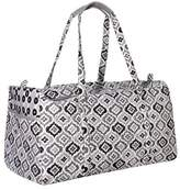Waverly Women's Black & White Ikat Duffel Bag