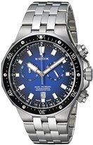 Edox Men's 'Delfin' Quartz Stainless Steel Dress Watch, Color:Silver-Toned (Model: 10109 3M BUIN)