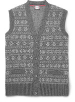 Moncler Gamme Bleu - Fair Isle Wool-blend Sweater Vest