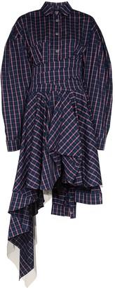 Natasha Zinko Checked asymmetric shirt dress