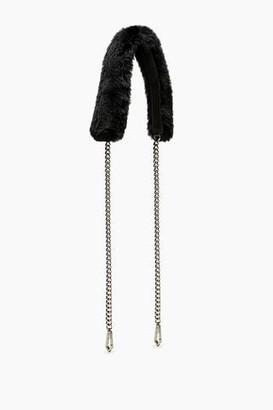 Rebecca Minkoff Fur Crossbody Strap With Chain