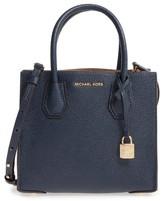 MICHAEL Michael Kors Medium Mercer Leather Crossbody Bag - Blue