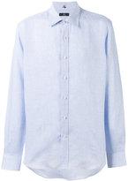 Fay classic shirt - men - Linen/Flax - 42