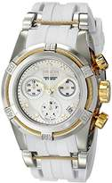 Invicta Bolt Women's Quartz Watch with Silver Dial Chronograph display on Silver Stainless Steel Plated Bracelet 15279