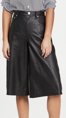 Rag & Bone/JEAN Super High Rise Leather Culottes