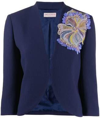 Emilio Pucci sequinned flower blazer