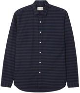 Oliver Spencer Clerkenwell Navy Striped Cotton Shirt