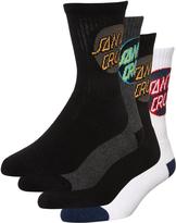 Santa Cruz Kids Cruz Pop Socks 4 Pack
