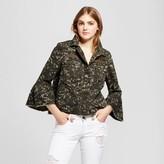 Mossimo Women's Utility Crop Camo Jacket Green