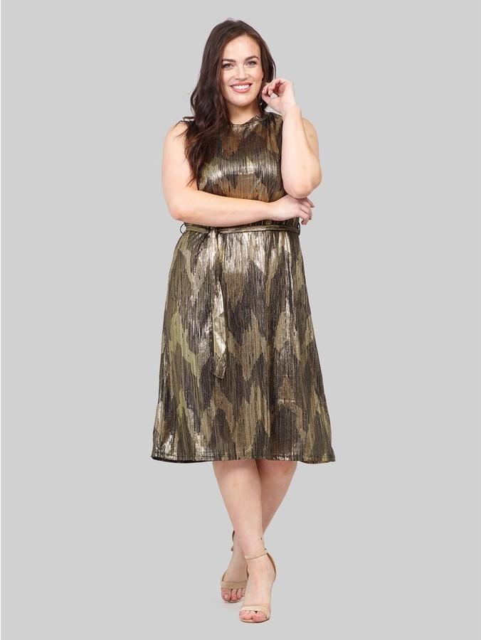 M&Co Izabel Curve chevron print shift dress