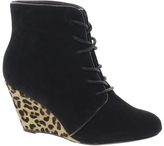 Ravel Lace Up Shoe Boot with Leopard Heel