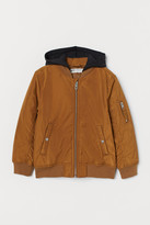H&M Padded Bomber Jacket - Yellow