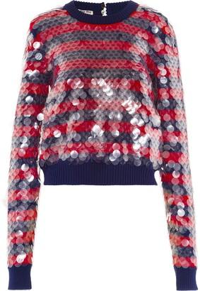 Miu Miu Sequin Striped Jumper