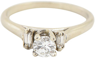 One Kings Lane Vintage Diamond Solitaire 14k Engagement Ring - Owl's Roost Antiques
