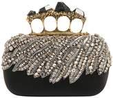 Alexander McQueen Beaded Satin Knuckle Box W/ Stones