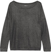 Majestic Metallic-Effect Cotton And Cashmere-Blend Jersey Top