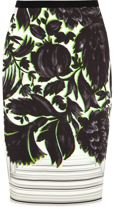 Peter Pilotto Erin printed stretch-crepe skirt