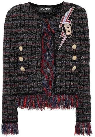 Balmain Embellished tweed jacket