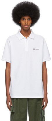 Burberry White Logo Oversized Polo