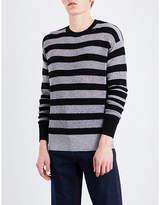 Mcq Alexander Mcqueen Metallic Striped Wool-blend Jumper