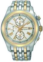 Seiko Men's SNAE32 Classic Two-Tone Stainless-Steel Chronograph Watch