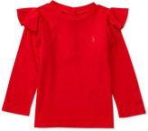 Ralph Lauren Girls' Ruffled-Shoulder Shirt
