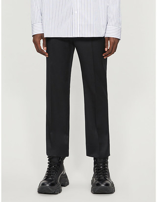 Juun.J Elasticated Straight tailored-fit wool trousers