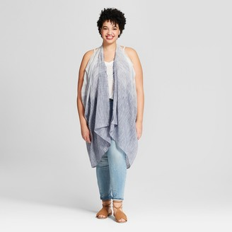 Universal Thread Women' Plu ize triped Vet Kimono Jacket - Univeral ThreadTM Chambray