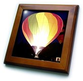 3dRose ft_622_1 Colorful Air Balloon Framed Tile, 8 by 8-Inch